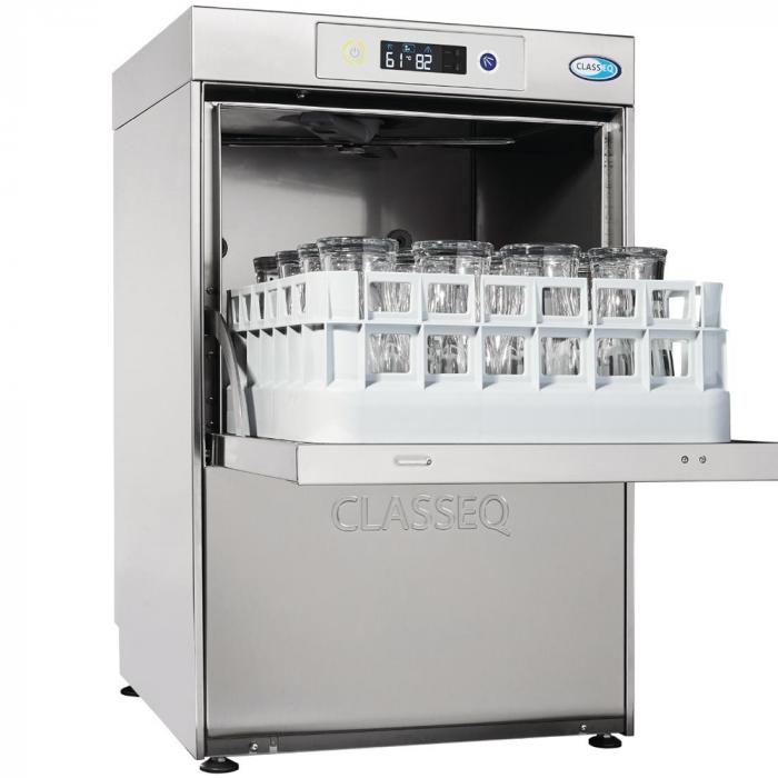 Classeq DUO Glasswasher 400mm Integrated Water Softener